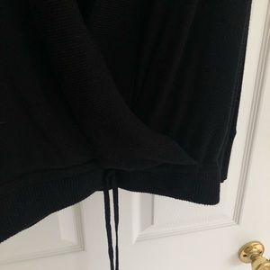 lululemon athletica Sweaters - lululemon Long Black Sweater with Crossover Front